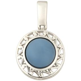 Anhänger 925 Sterling Silber Opal blau