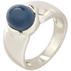Ring 925 St. Silber Opal blau