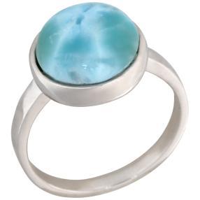 Ring 950 Silber rhodiniert Larimar,rhodiniert