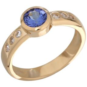 Ring 585 Gelbgold, AAATansanit