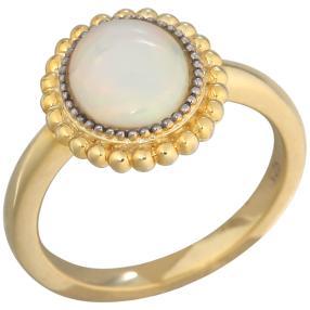 Ring 925 St. Silber vergoldet Äthiopischer Opal