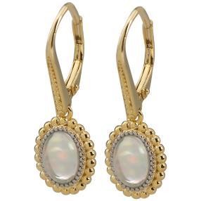 Ohrhänger 925 St. Silber verg. Äthiopischer Opal