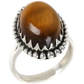 Ring 925 Sterling Silber Tigerauge