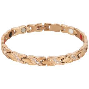 Armband Titan rosévergoldet, Zirkonia