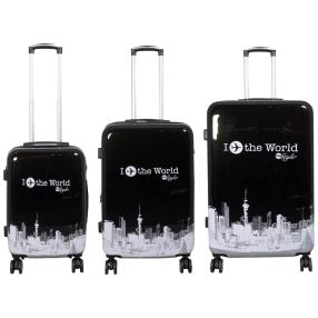 3-teiliges Trolleyset Fly the world