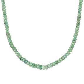 Smaragd-Collier 925 Sterling Silber