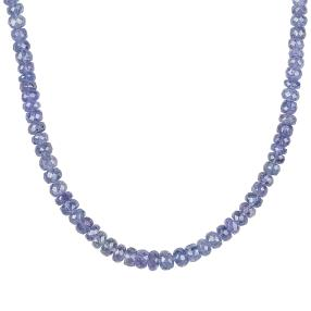 AA+Tansanit-Collier 925 Sterling Silber ca.100ct.