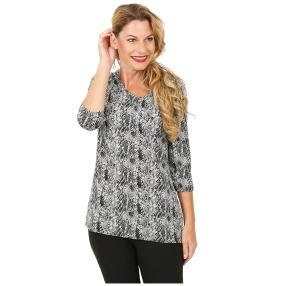 RÖSSLER SELECTION Damen-Shirt schwarz/weiß