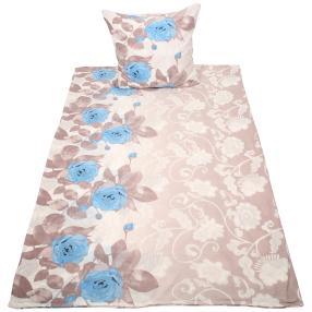 Rose Dream Bettwäsche 2-teilig, grau-blau