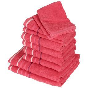 Handtuchset XXL pink, 10-teilig