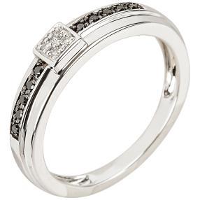 Ring 585 Weißgold Diamanten