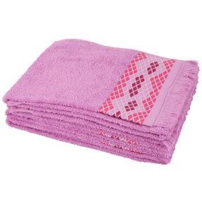 Handtuch lila Raute 4er-Set