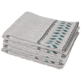 Handtuch Bordüre silber 4er-Set