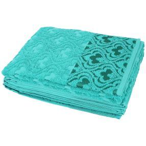 Handtuch Bordüre smaragd 4er-Set