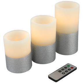 LED-Kerzenset Silverstar 3-teilig
