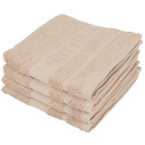HUCKE Handtuch 4er Set, beige