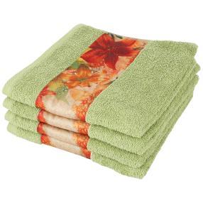 Handtuch 4er Set Lilie, grün