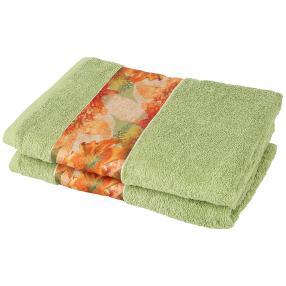 Duschtuch 2er Set Lilie, grün