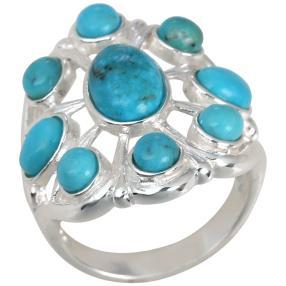 Ring 925 Sterling Silber Türkis stab.
