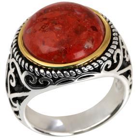 Ring 925 St. Silber bicolor Bambuskoralle