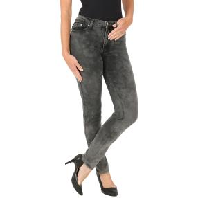 Jet-Line Damen-Jeans 'Charly' cloudy grey/black