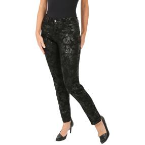 Jet-Line Damen-Jeans 'Bella' black/silver