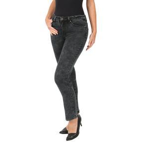 Jet-Line Damen-Jeans 'Gianna' striped grey washed
