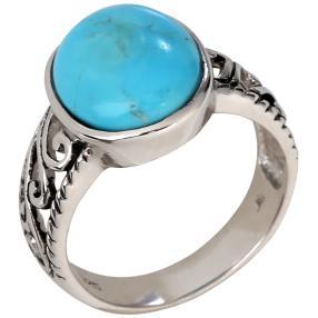 Ring 925 Sterling Silber Türkis stabilisiert