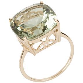 Ring 585 Gelbgold Prasiolith