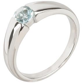 Ring 925 St. Silber rhodiniert Aquamarin