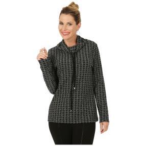 RÖSSLER SELECTION Damen-Rolli-Shirt schwarz/weiß