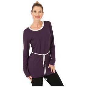 RÖSSLER SELECTION Damen-Longshirt aubergine