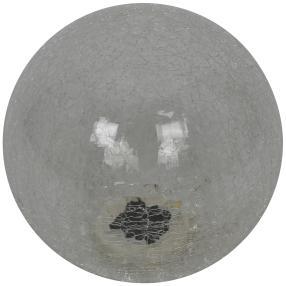 Solarleuchte Glas Crackle, klar