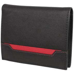 WILDHORN Büffellederbörse, schwarz, rot
