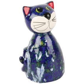 Katze, runde Form blau, ca. 20cm