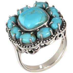 Ring 925 Sterling Silber Türkis