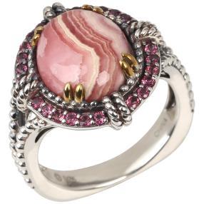 Ring 925 Sterling Silber Rhodochrosit