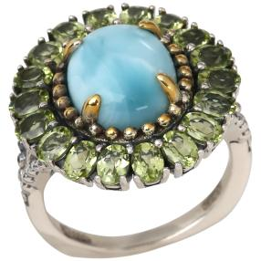 Ring 925 Sterling Silber Larimar