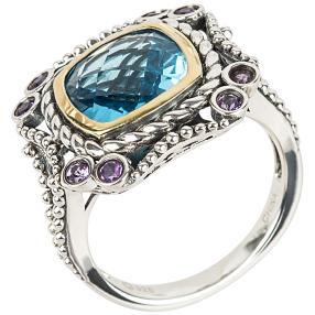 Ring 925 Sterling Silber Sky Blue Topas behandelt