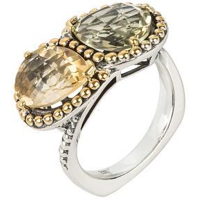 Ring 925 Sterling Silber Citrin Lemon Quarz