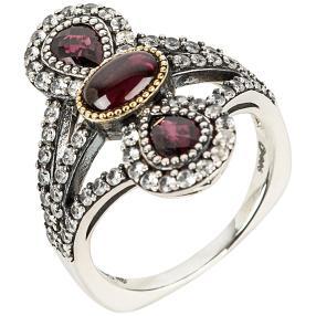 Ring 925 Sterling Silber Rhodolith