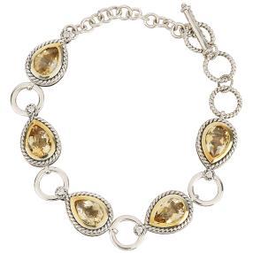 Armband 925 Sterling Silber rhodiniert Citin