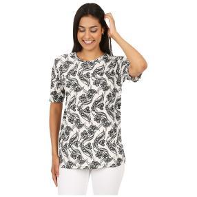 Damen-Shirt 'Cora' weiß/schwarz