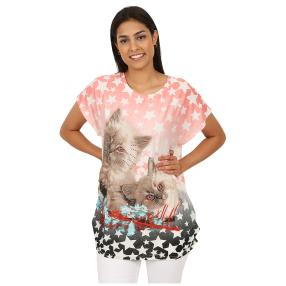 Damen-Shirt 'Kitty' multicolor