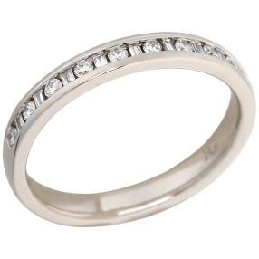 Memoryring 950 Platin mit Diamanten und Brillanten