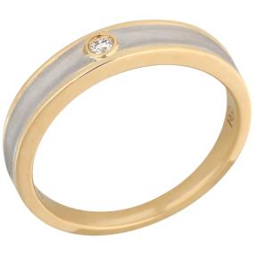 Ring 950 Platin Brillant + 18 Karat Gold