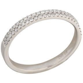 Ring 950 Platin mit Brilllanten zweireihig