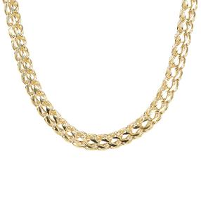 Collier 585 Gelbgold 8 Diamanten