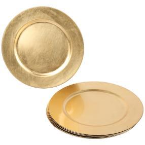 Platzteller gold 6er-Set