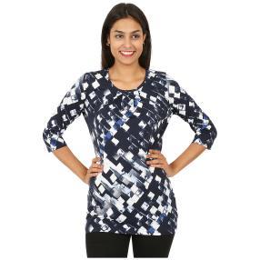 RÖSSLER SELECTION Damen-Longshirt blau/weiß